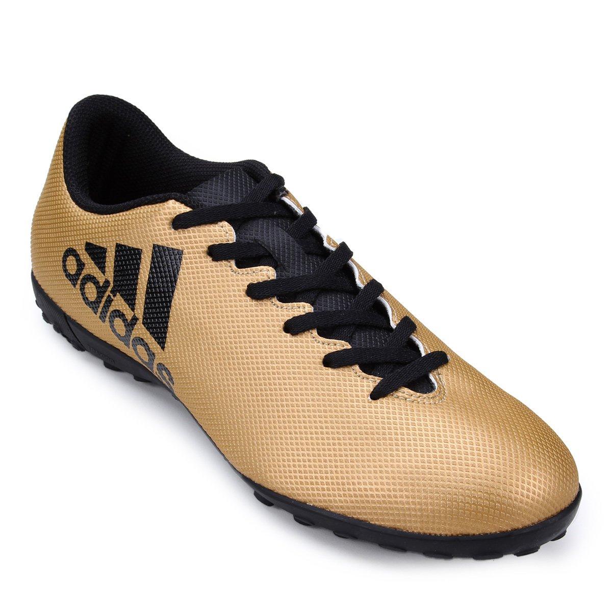 2e85afffaf Chuteira Society Adidas X 17 4 TF - Dourado - Compre Agora