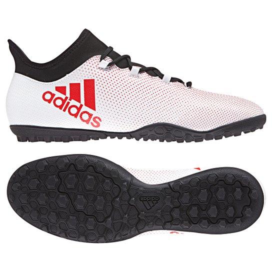Chuteira Society Adidas X 17.3 TF - Cinza+Preto