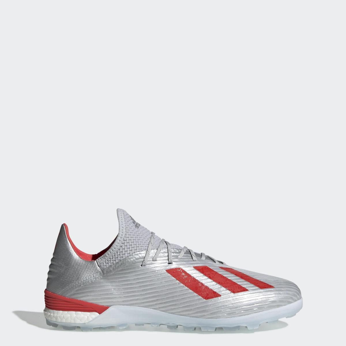 Chuteira Society Adidas X 19.1 - Prata