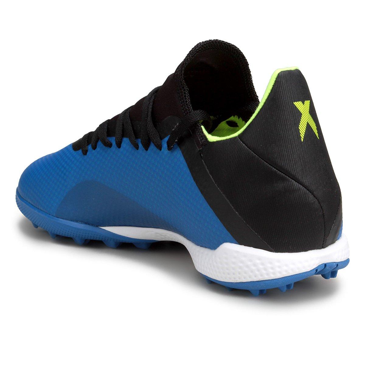 62786488a7 ... Adidas Society TF Masculina 18 e Chuteira X 3 Azul Preto Tango U4cqa ...