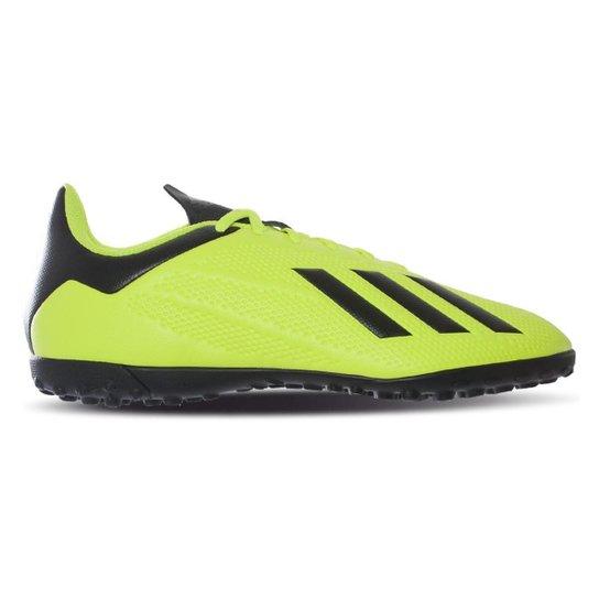 Chuteira Society Adidas X Tango 18 4 TF - Preto+verde