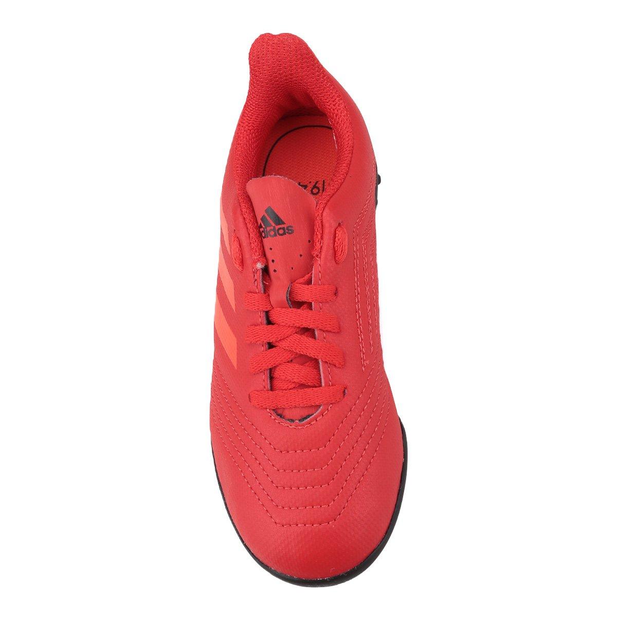 6999d143af Chuteira Society Infantil Adidas Predator 19 4 TF - Vermelho e Preto ...