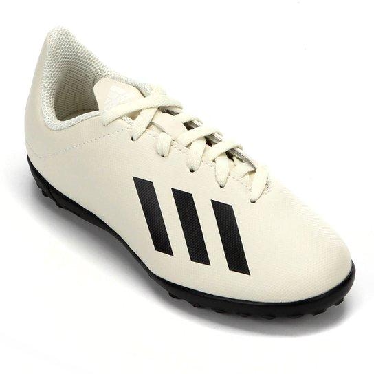 Chuteira Society Infantil Adidas X Tango 18 4 TF - Branco+Preto