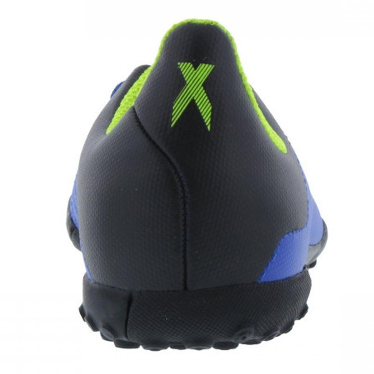 Chuteira Society Infantil Adidas X Tango 18 4 TF - Azul e Preto ... a523cfa8febee