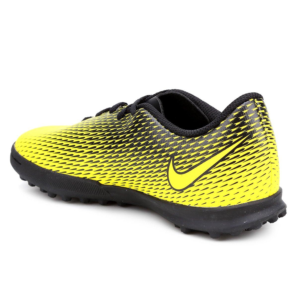 Chuteira Society Infantil Nike Bravata II TF - Amarelo e Preto ... 192fdf81b0cd0