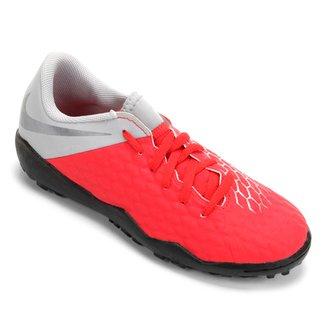 competitive price 97aed 7873a Chuteira Society Infantil Nike Hypervenom 3 Academy TF - Vermelho e Cinza