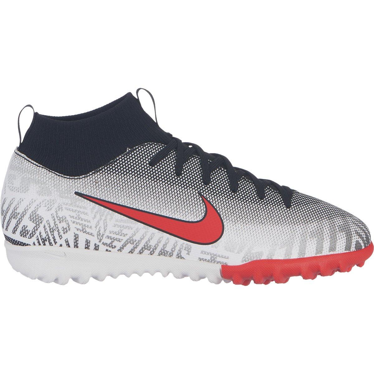 online retailer 60211 cd919 Chuteira Society Infantil Nike Mercurial Superfly 6 Academy Gs Neymar Jr TF  - Branco e Vermelho