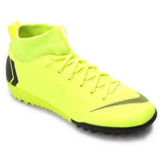 Chuteira Society Infantil Nike Mercurial Superfly 6 Academy GS TF - Amarelo+Preto