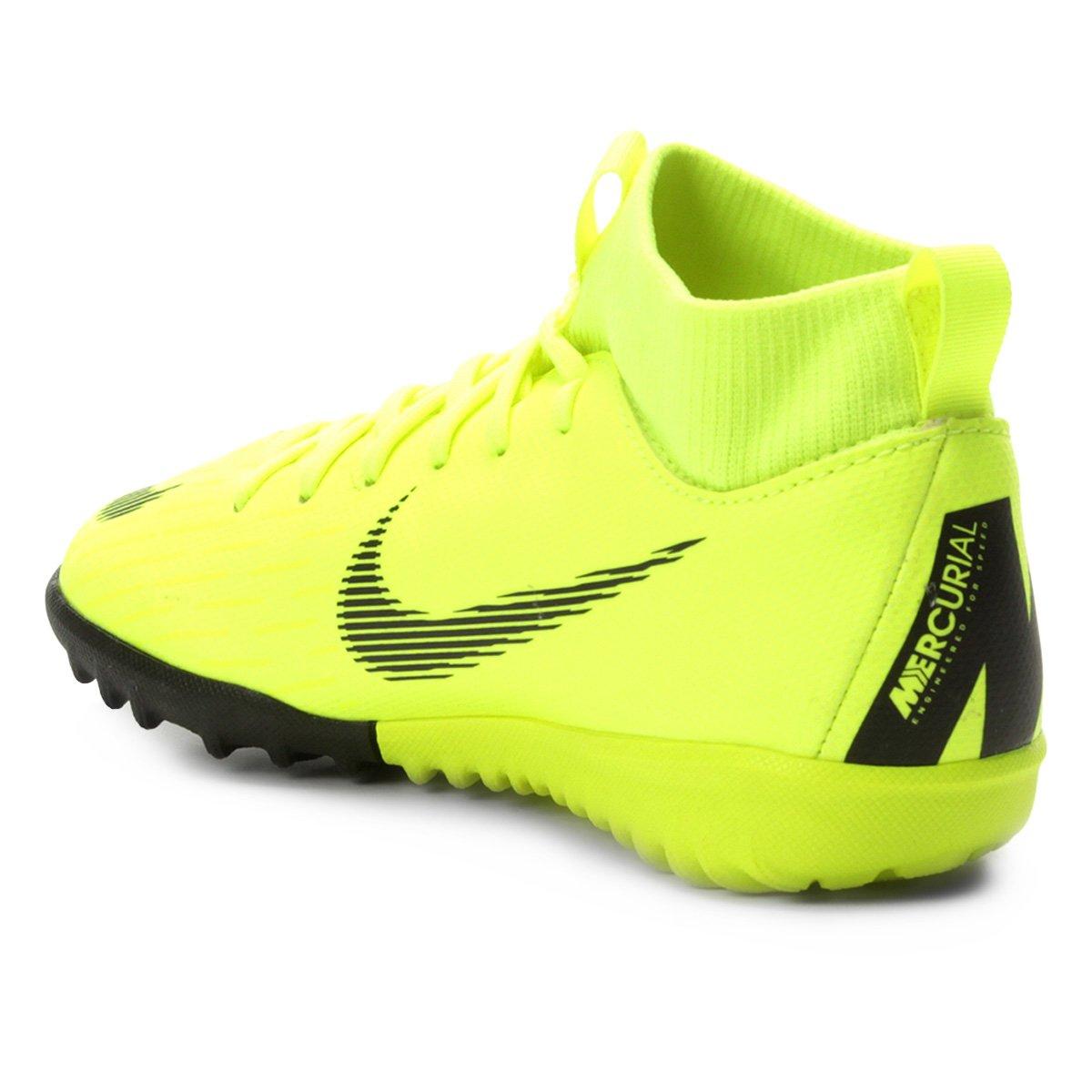 ... Chuteira Society Infantil Nike Mercurial Superfly 6 Academy GS TF ... c2ca3890bee93