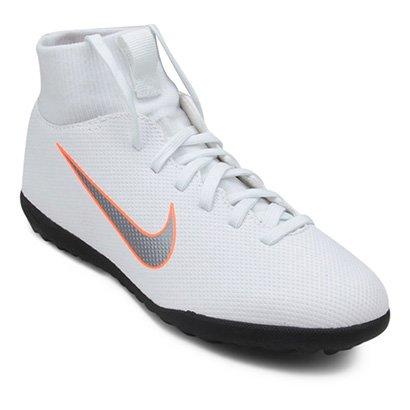 f5e11ee40cf2d Chuteira Society Infantil Nike Mercurial Superfly 6 Club - Branco e Cinza - Compre  Agora