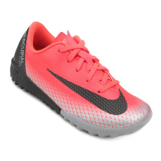 Chuteira Society Infantil Nike Mercurial Vapor 12 Academy OS CR7 TF - Vermelho