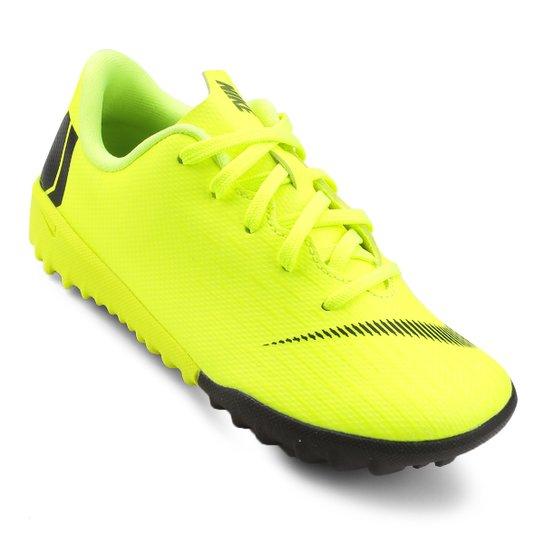 Chuteira Society Infantil Nike Mercurial Vapor 12 Academy - Amarelo+Preto