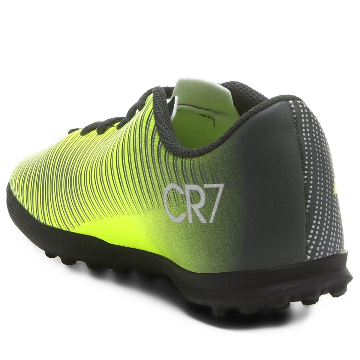 Chuteira Society Infantil Nike Mercurial X Vortex 3 CR7 TF - Compre ... e28e7bf327965