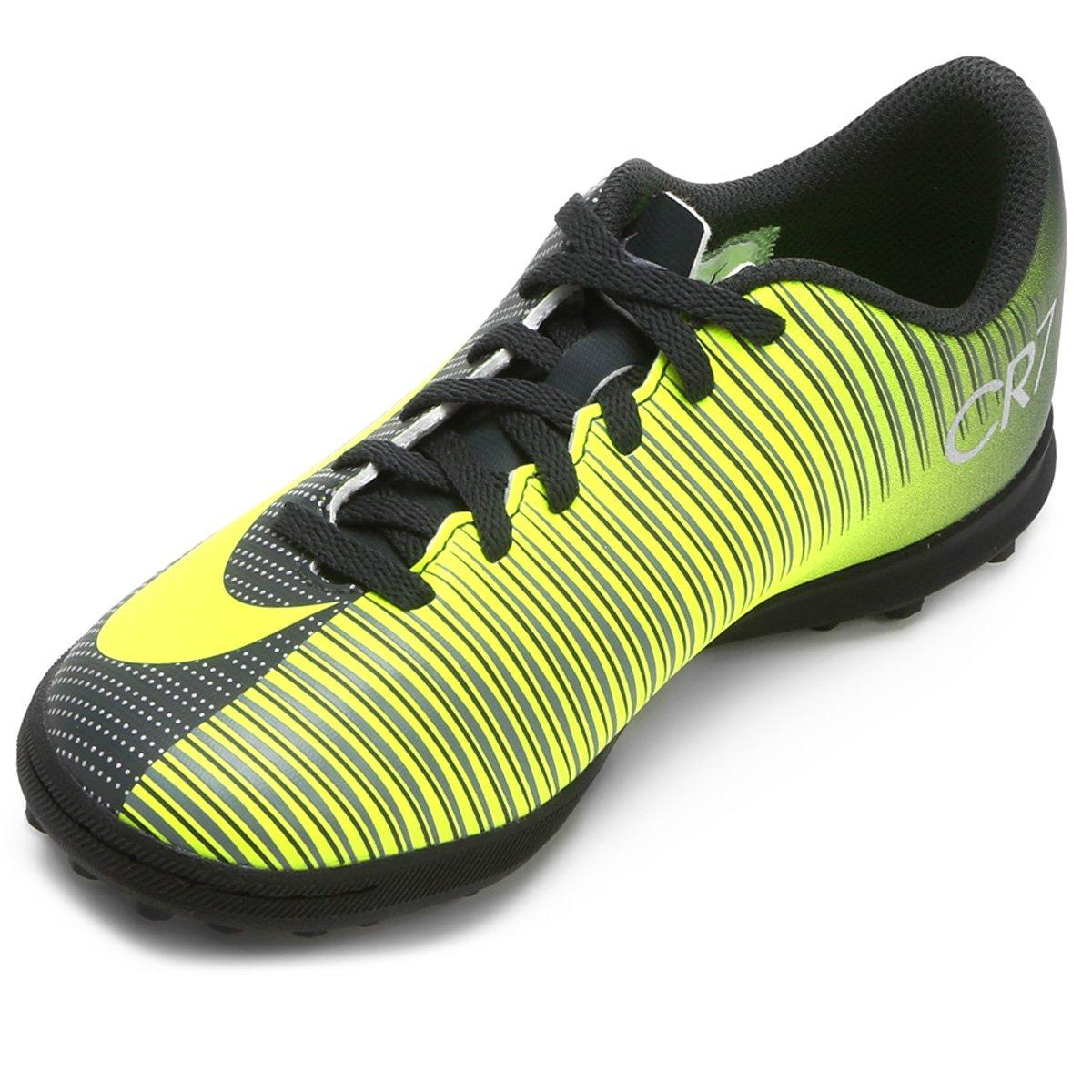 5fcd6ae8c4 Chuteira Society Infantil Nike Mercurial X Vortex 3 CR7 TF - Compre ...