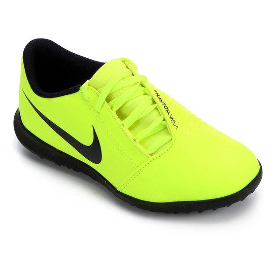 Chuteira Society Infantil Nike Phantom Venom Club TF - Verde Limão+Azul Royal