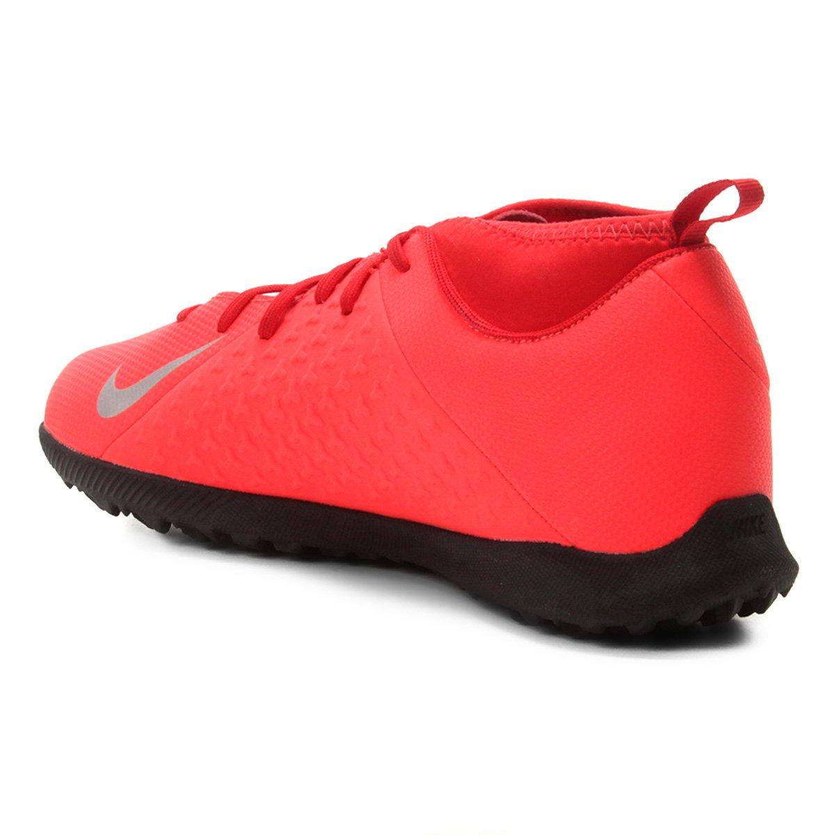 dd69f591b3 Chuteira Society Infantil Nike Phantom Vision Club TF - Vermelho e ...