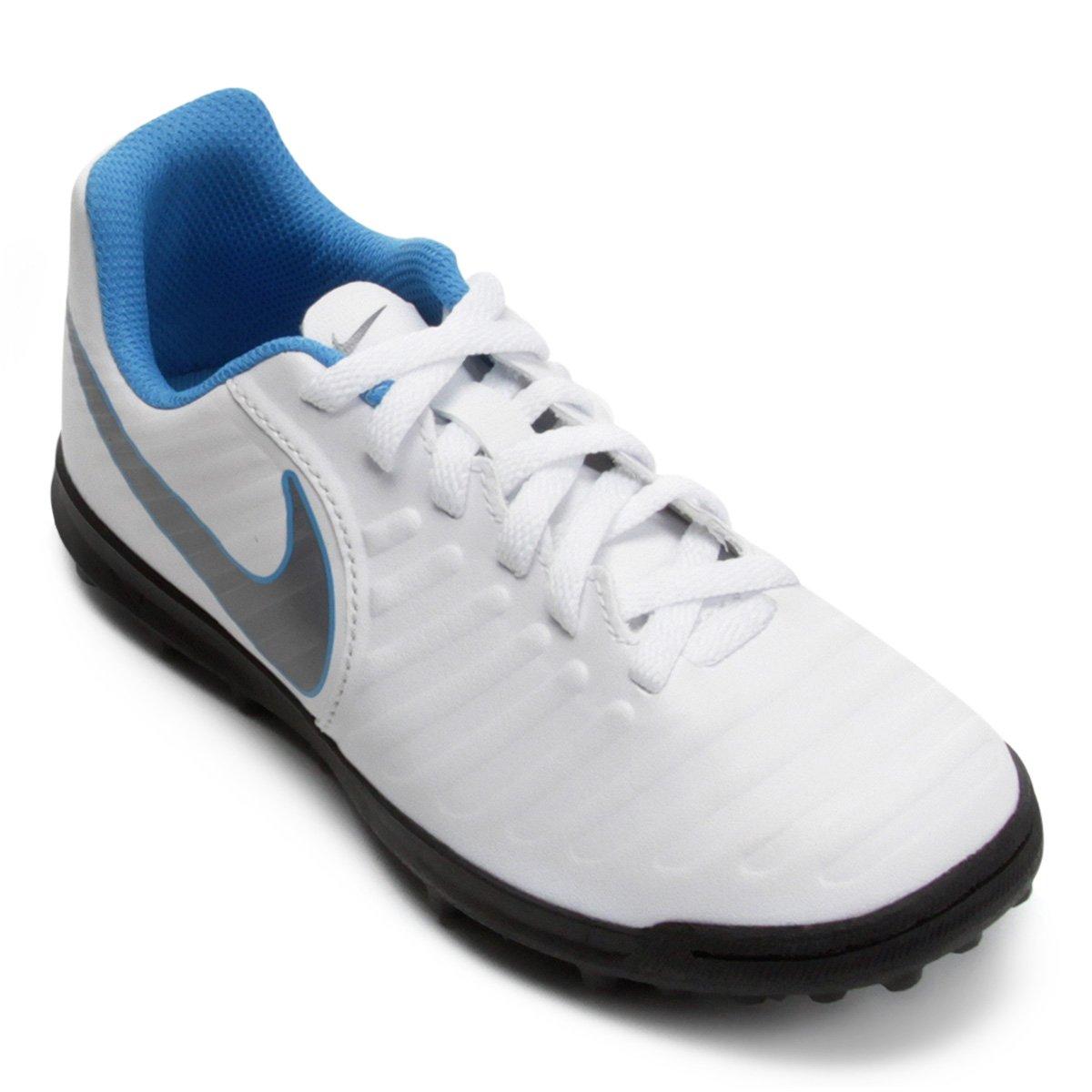 7925f640bd Chuteira Society Infantil Nike Tiempo Legend 7 Club TF - Branco e Cinza - Compre  Agora