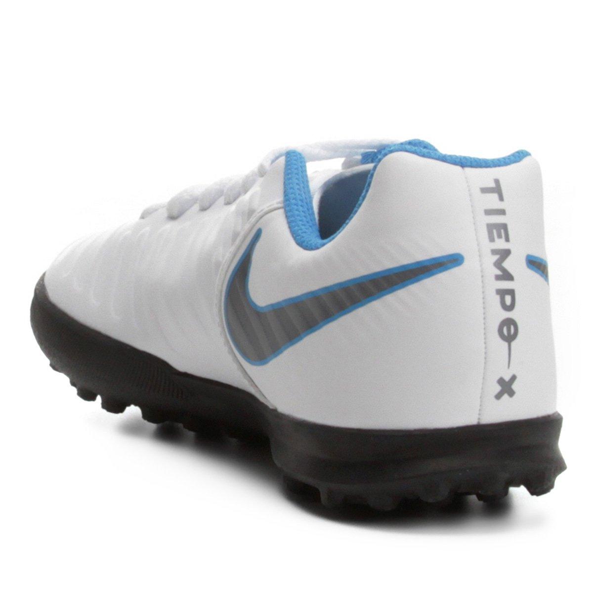 Chuteira Society Infantil Nike Tiempo Legend 7 Club TF - Branco e ... 989e4c78cfe5f