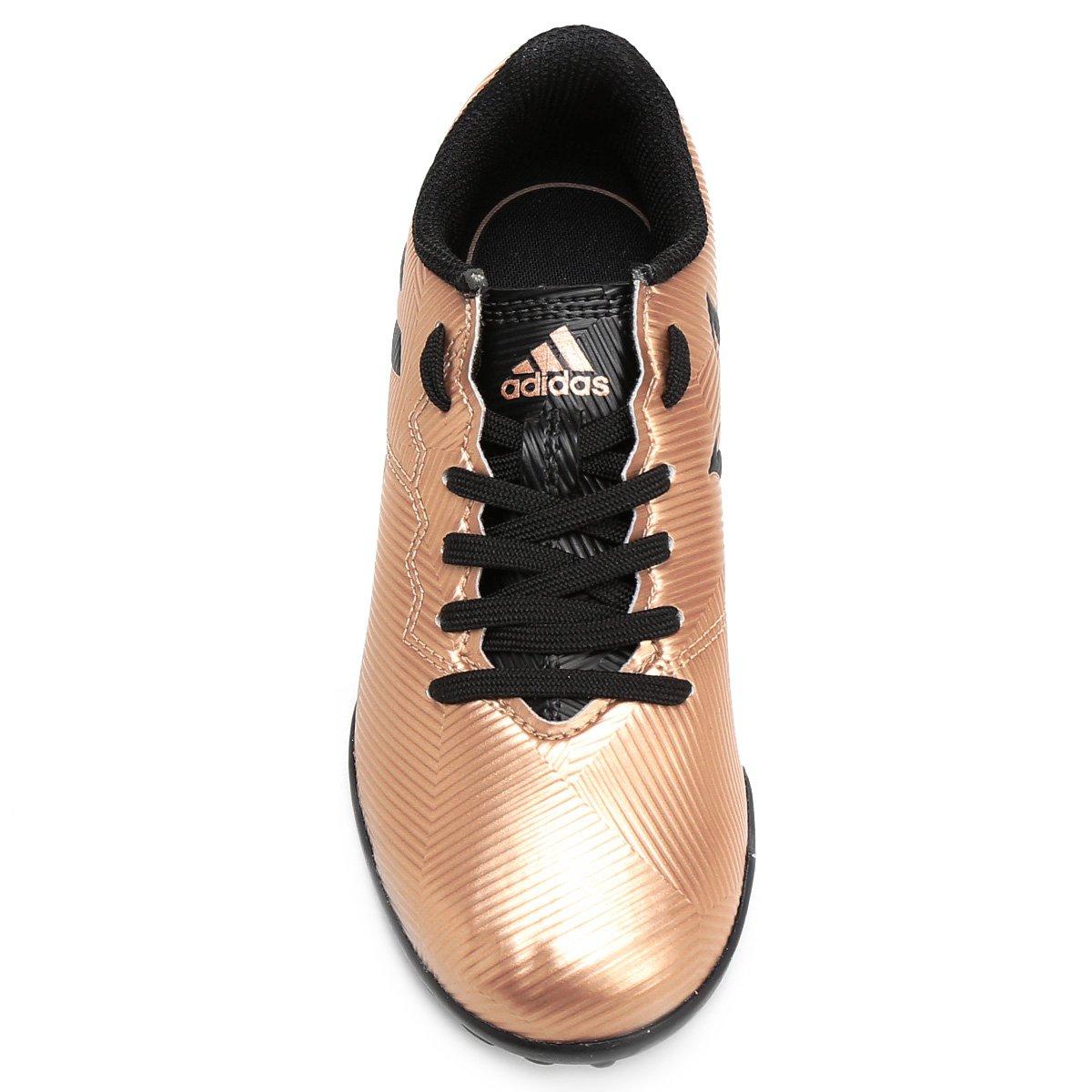 89f1a19048 Chuteira Society Juvenil Adidas Messi 16.4 TF - Dourado e Preto ...