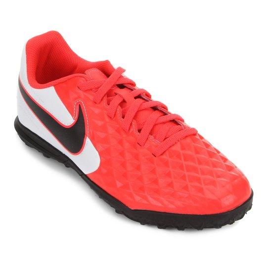 Chuteira Society Juvenil Nike Tiempo Legend 8 Club - Vermelho+Preto