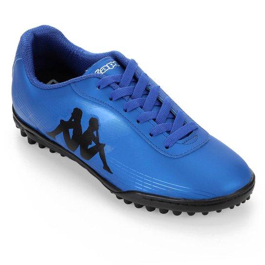Chuteira Society Kappa Fast - Azul+Preto