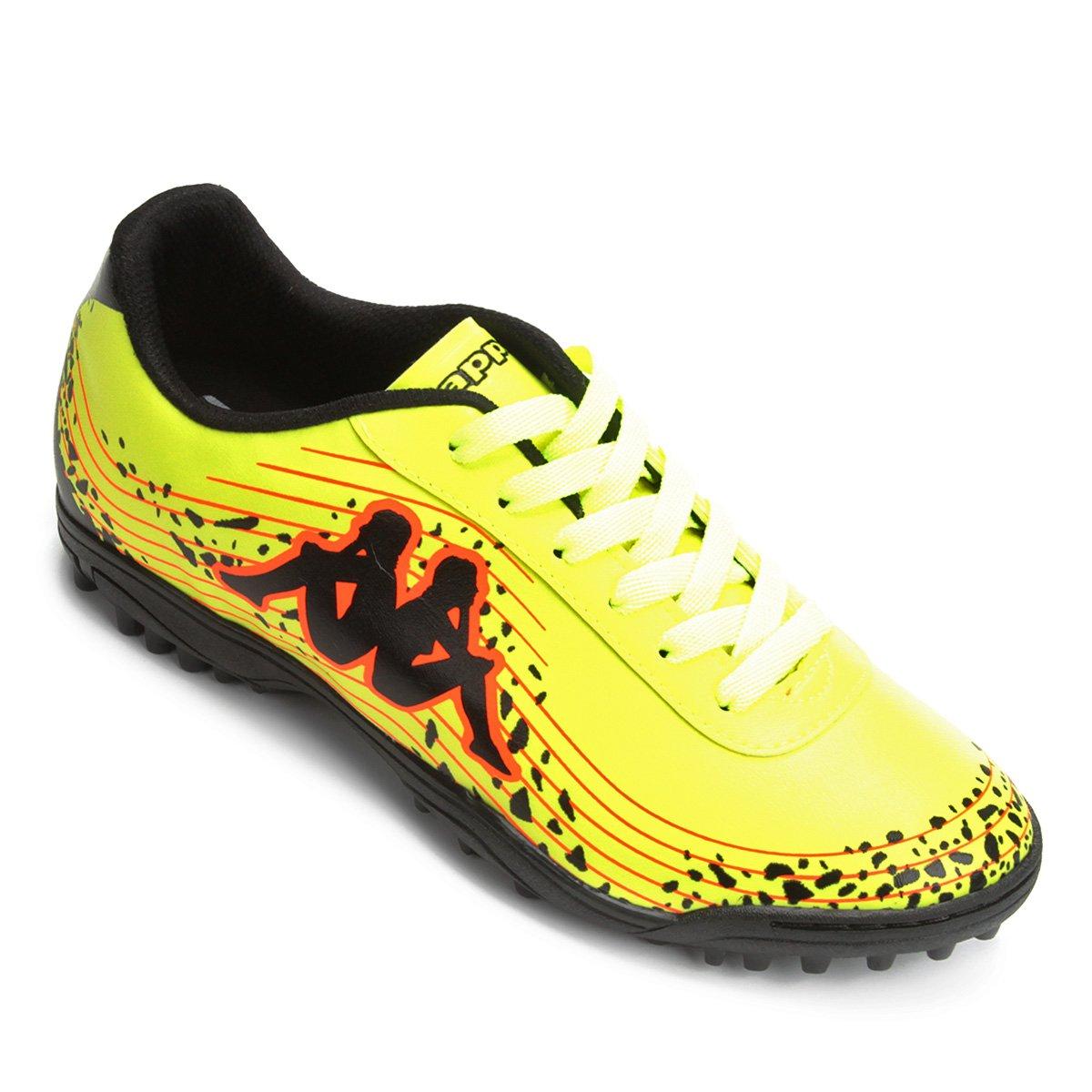 968cd0c0f2 Chuteira Society Kappa Lightning - Verde e laranja - Compre Agora ...
