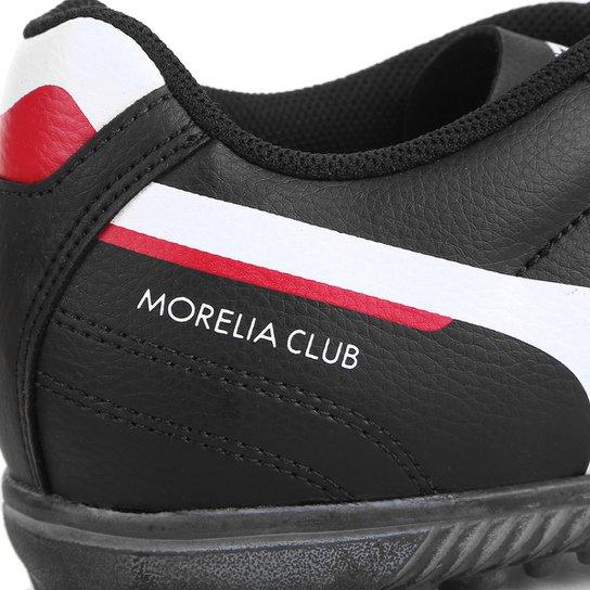 Chuteira Society Mizuno Morelia Club AS N - Preto+Branco