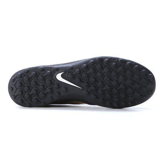 Chuteira Society Nike Beco 2 TF - Preto+Dourado