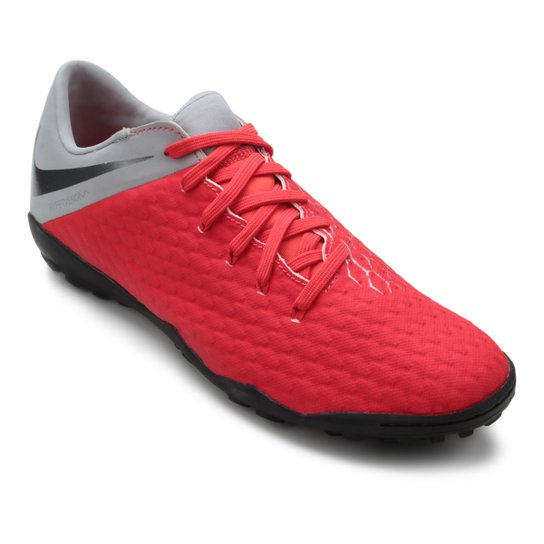 Chuteira Society Nike Hypervenom 3 Academy TF - Vermelho
