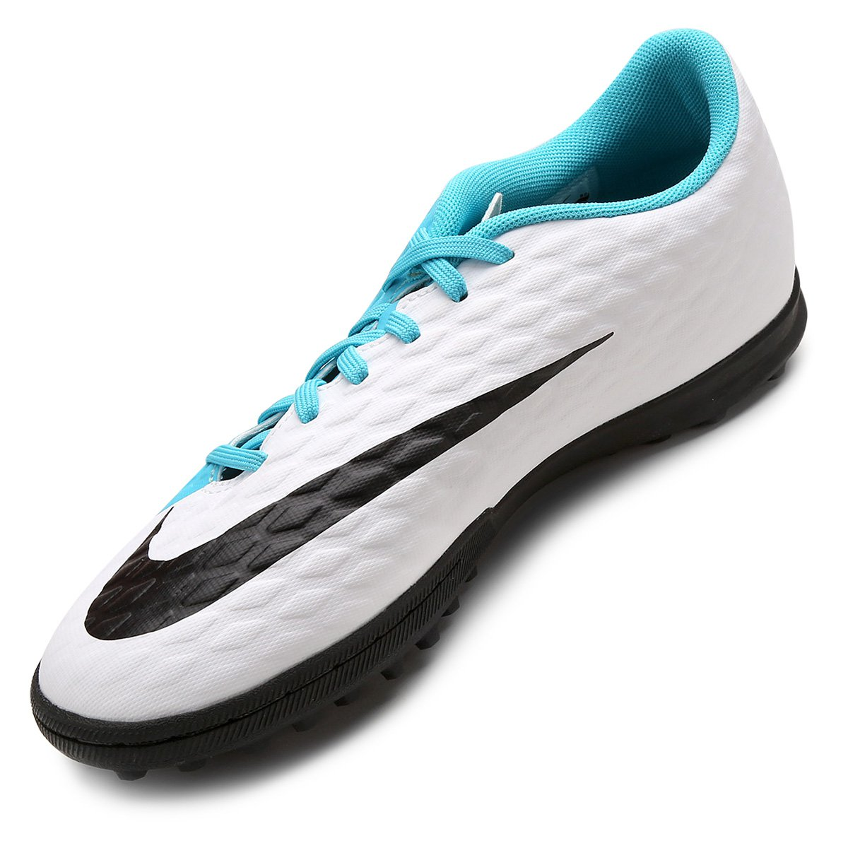 Chuteira Society Nike Hypervenom Phade 3 - Branco e Azul - Compre ... 95dc9f12418c1