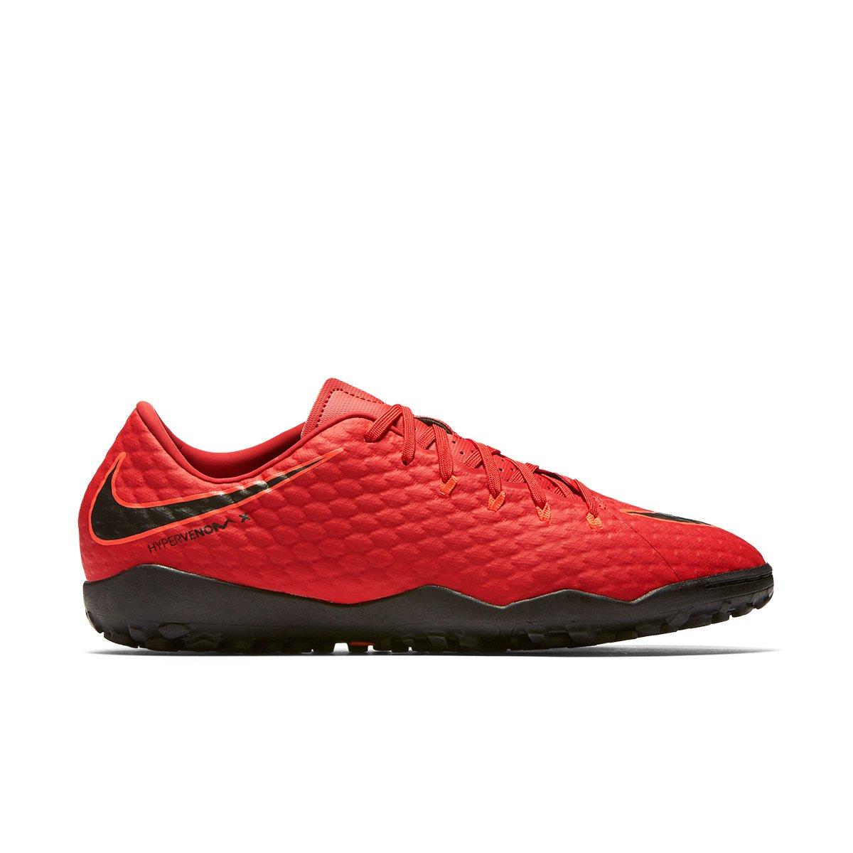 ce91b3667c Chuteira Society Nike Hypervenom Phelon 3 TF - Vermelho e Preto ...