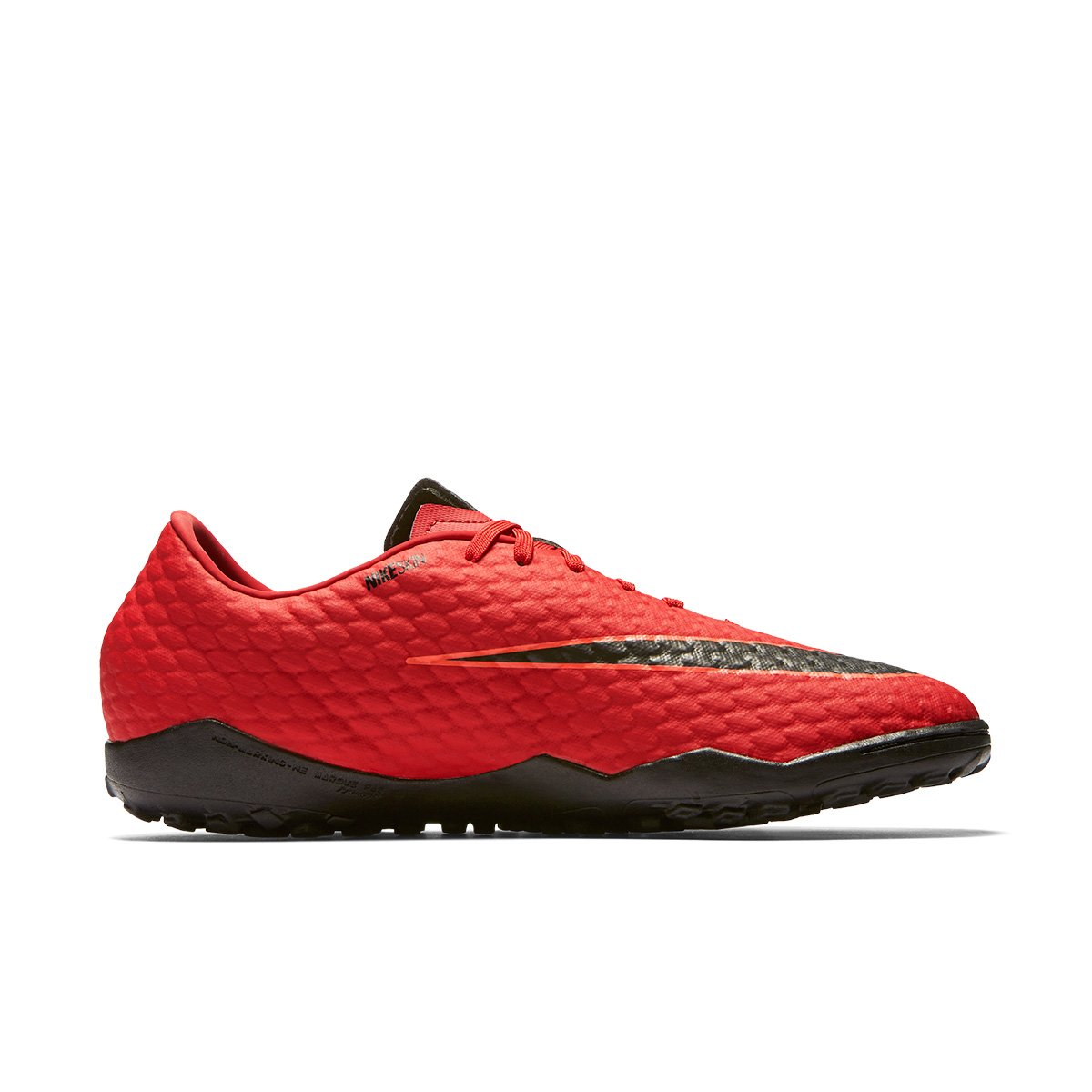 7095b57dec Chuteira Society Nike Hypervenom Phelon 3 TF - Vermelho e Preto ...