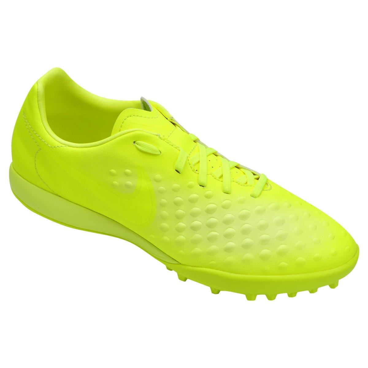 Chuteira Society Nike Magista Onda II TF - Verde Limão - Compre ... 125b7b4fe623d