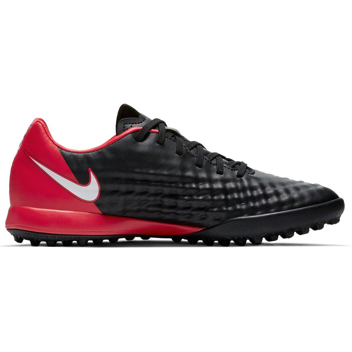 Chuteira Society Nike Magista Onda II TF - Preto e Branco - Compre ... 072a70f6733d1