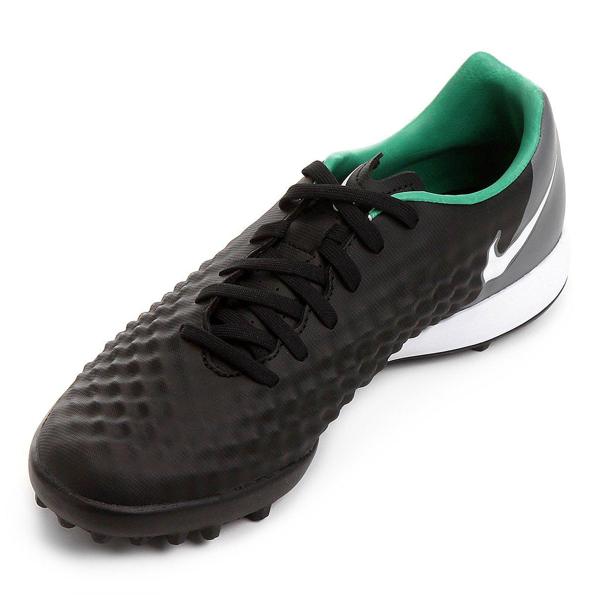Chuteira Society Nike Magista Onda II TF - Preto e verde - Compre ... 6be8500cd5892
