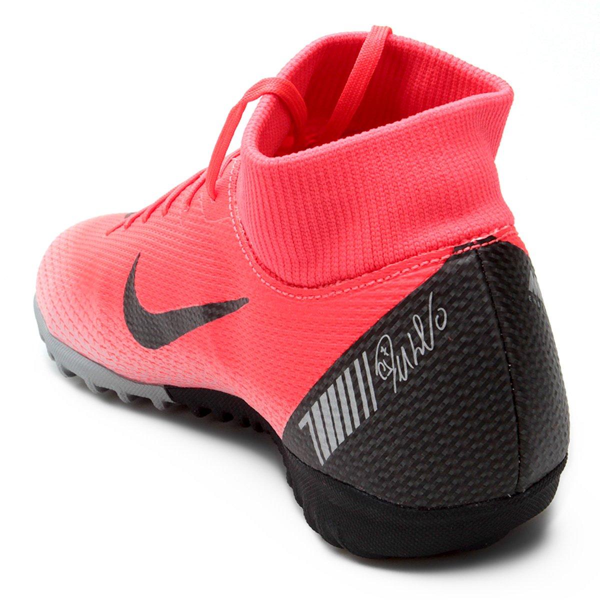 e596279b4b Chuteira Society Nike Mercurial Superfly 6 Academy CR7 TF - Preto e ...