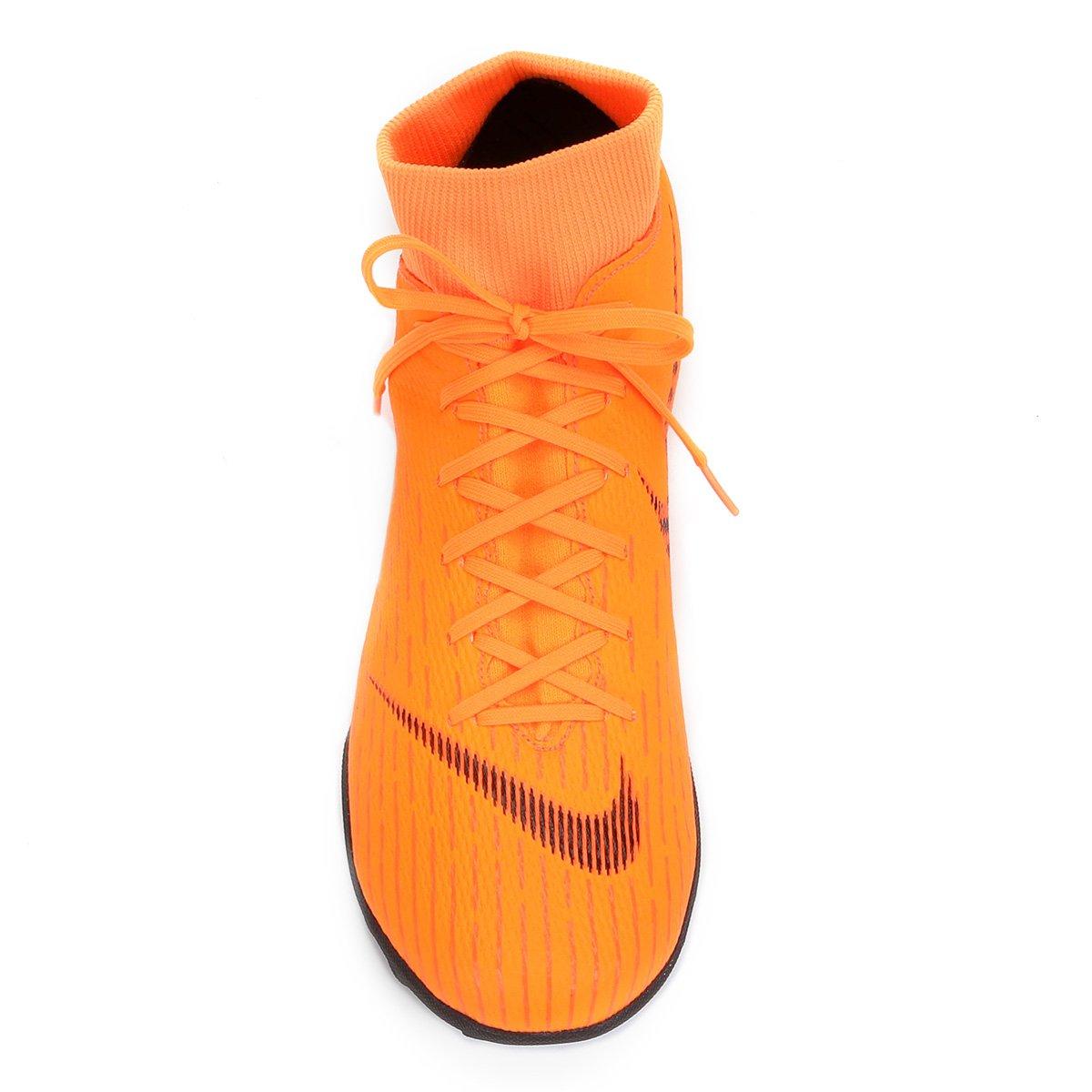 Chuteira Society Nike Mercurial Superfly 6 Academy - Laranja e Preto ... e6dfa76602a12