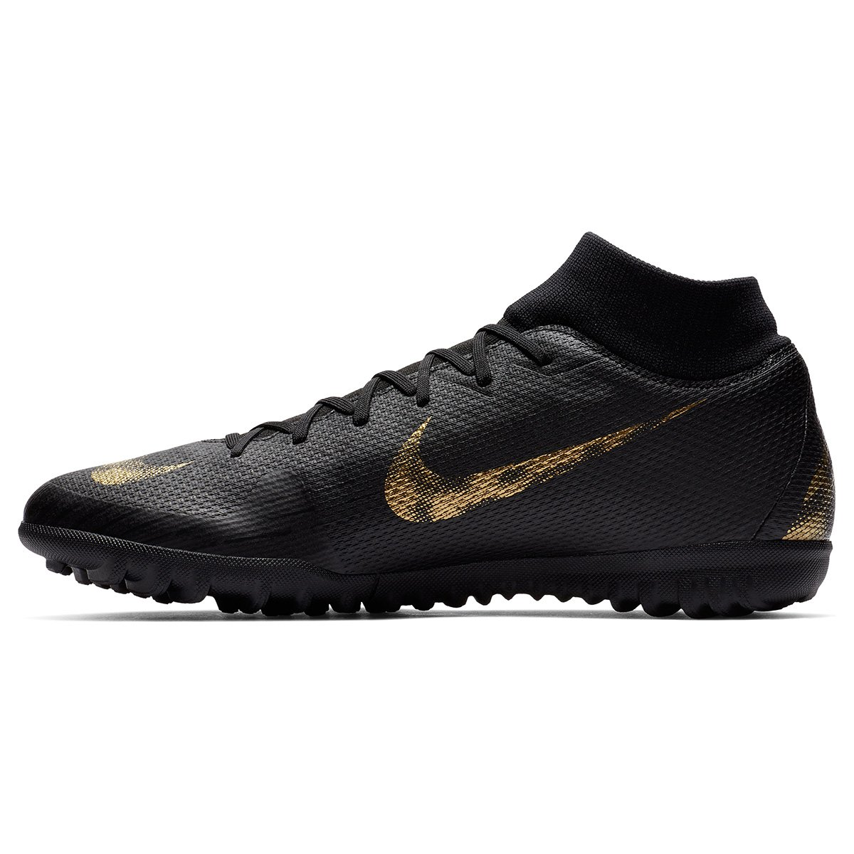 fe75d602cbdae Chuteira Society Nike Mercurial Superfly 6 Academy - Preto e Dourado -  Compre Agora