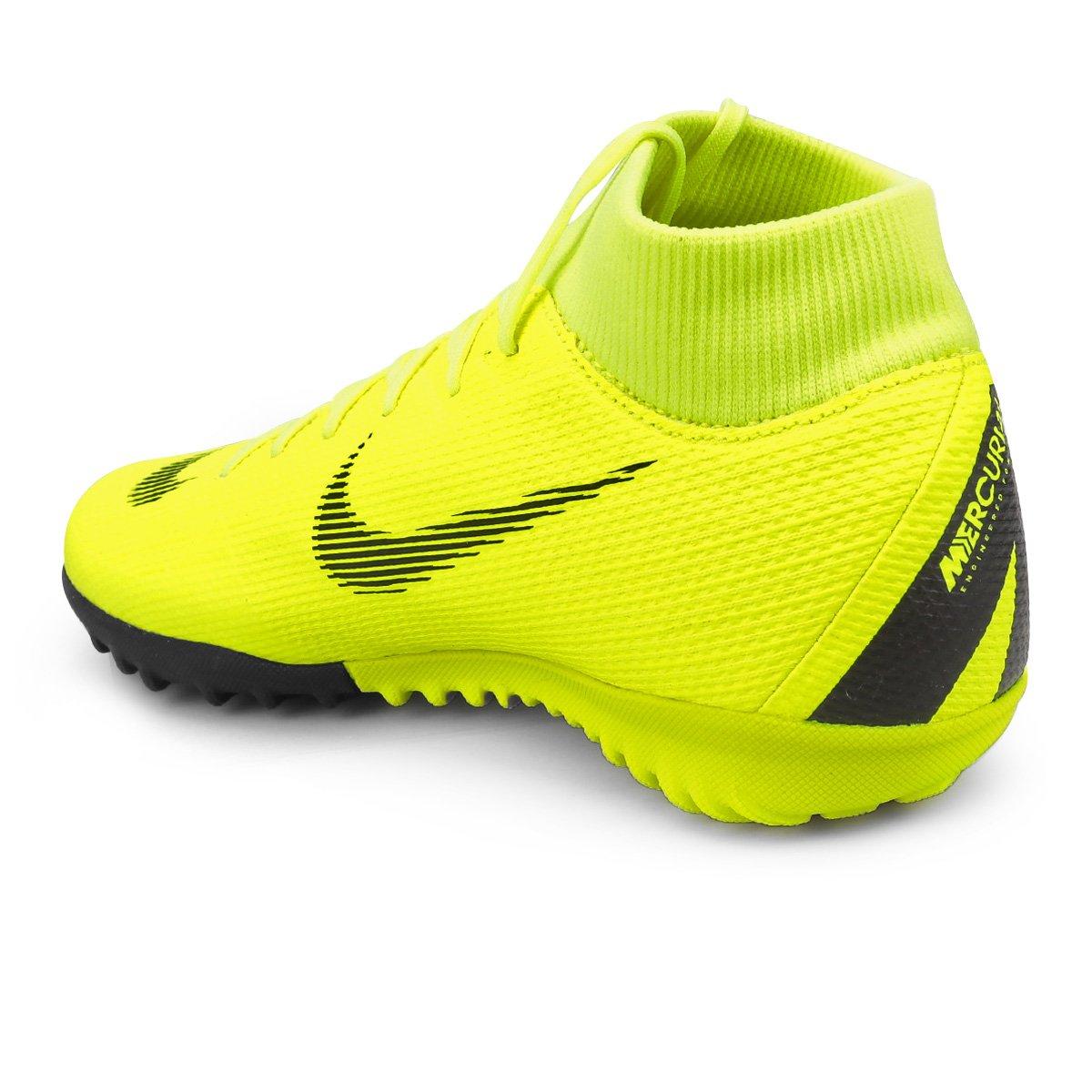 Chuteira Society Nike Mercurial Superfly 6 Academy - Amarelo e Preto ... 36dedf6a98cd1