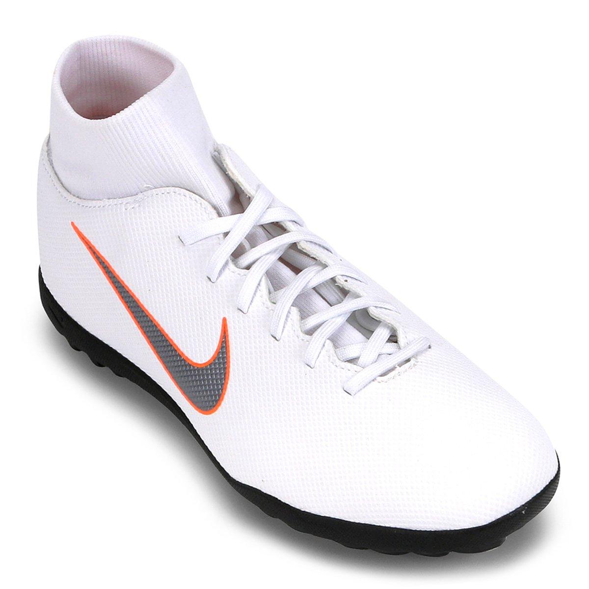 9ca935e0d6387 Chuteira Society Nike Mercurial Superfly 6 Club - Branco e Cinza - Compre  Agora