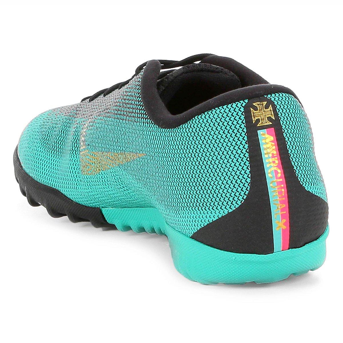 Chuteira Society Nike Mercurial Vapor 12 Academy CR7 TF - Compre ... b50a090320e3f