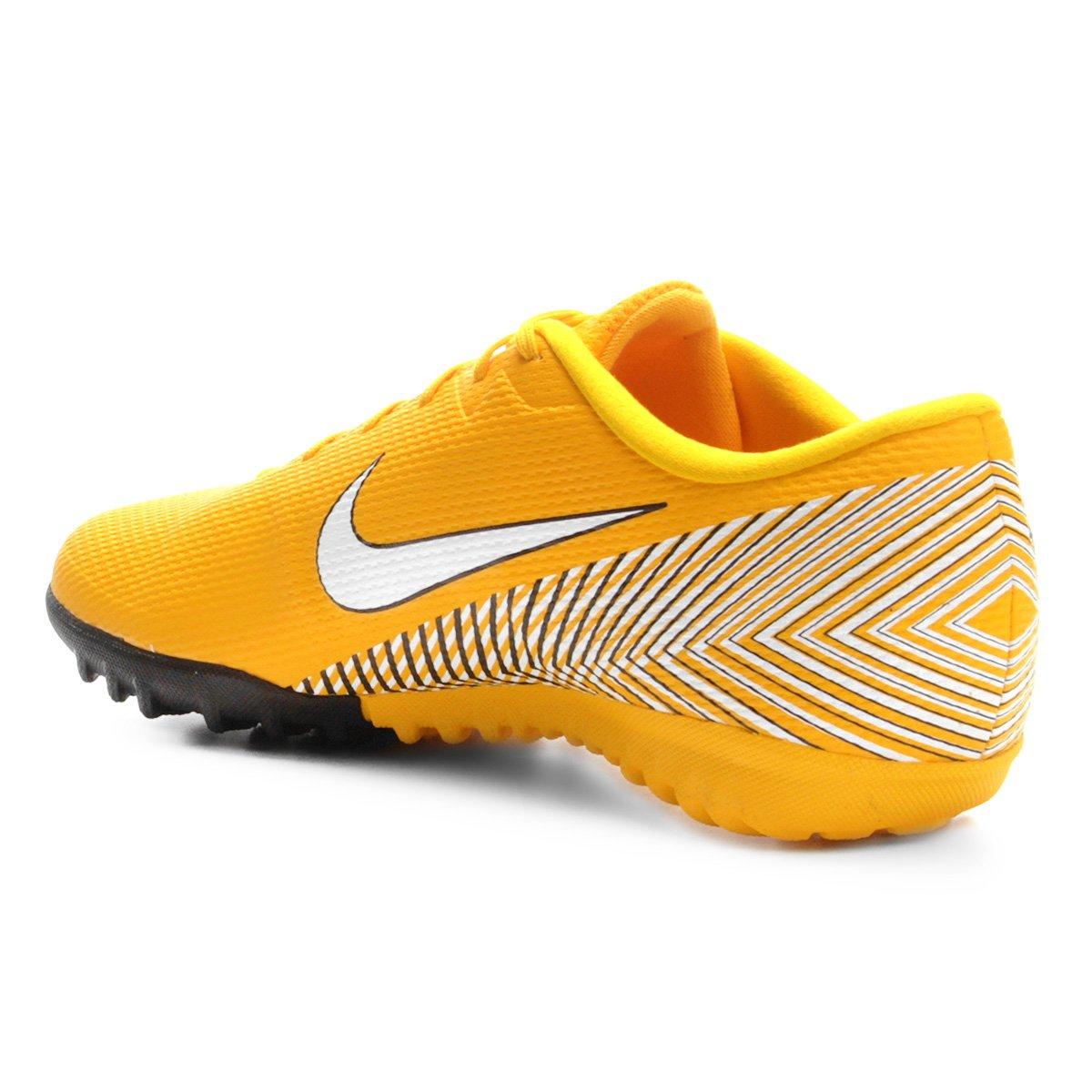 Chuteira Society Nike Mercurial Vapor 12 Academy Neymar TF - Amarelo ... cf4834929f5b2