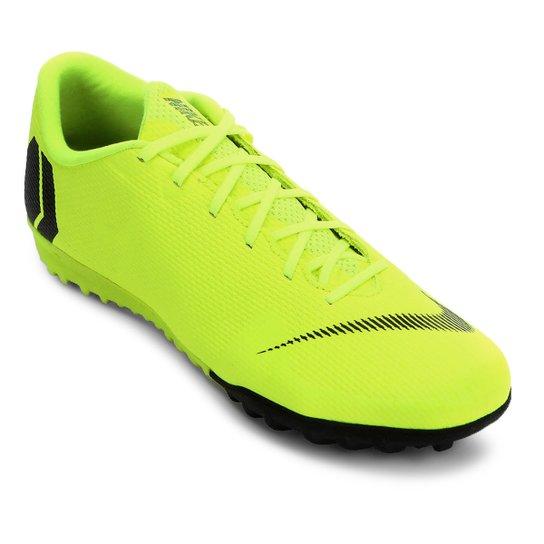 Chuteira Society Nike Mercurial Vapor 12 Academy - Amarelo+Preto