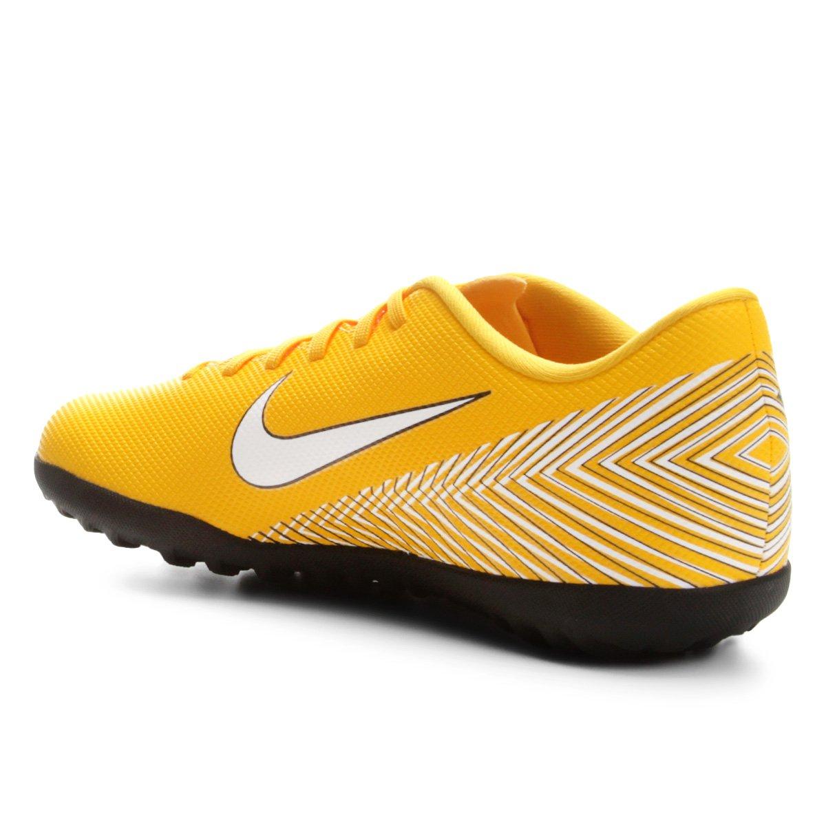 e6449f00fe Chuteira Society Nike Mercurial Vapor 12 Club Neymar TF - Amarelo e ...