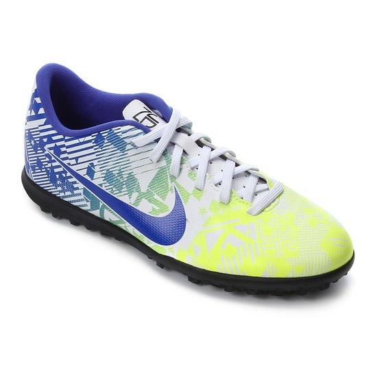 Pef Masaccio oído  Chuteira Society Nike Mercurial Vapor 13 Club Neymar Jr TF - Branco e Azul    Netshoes