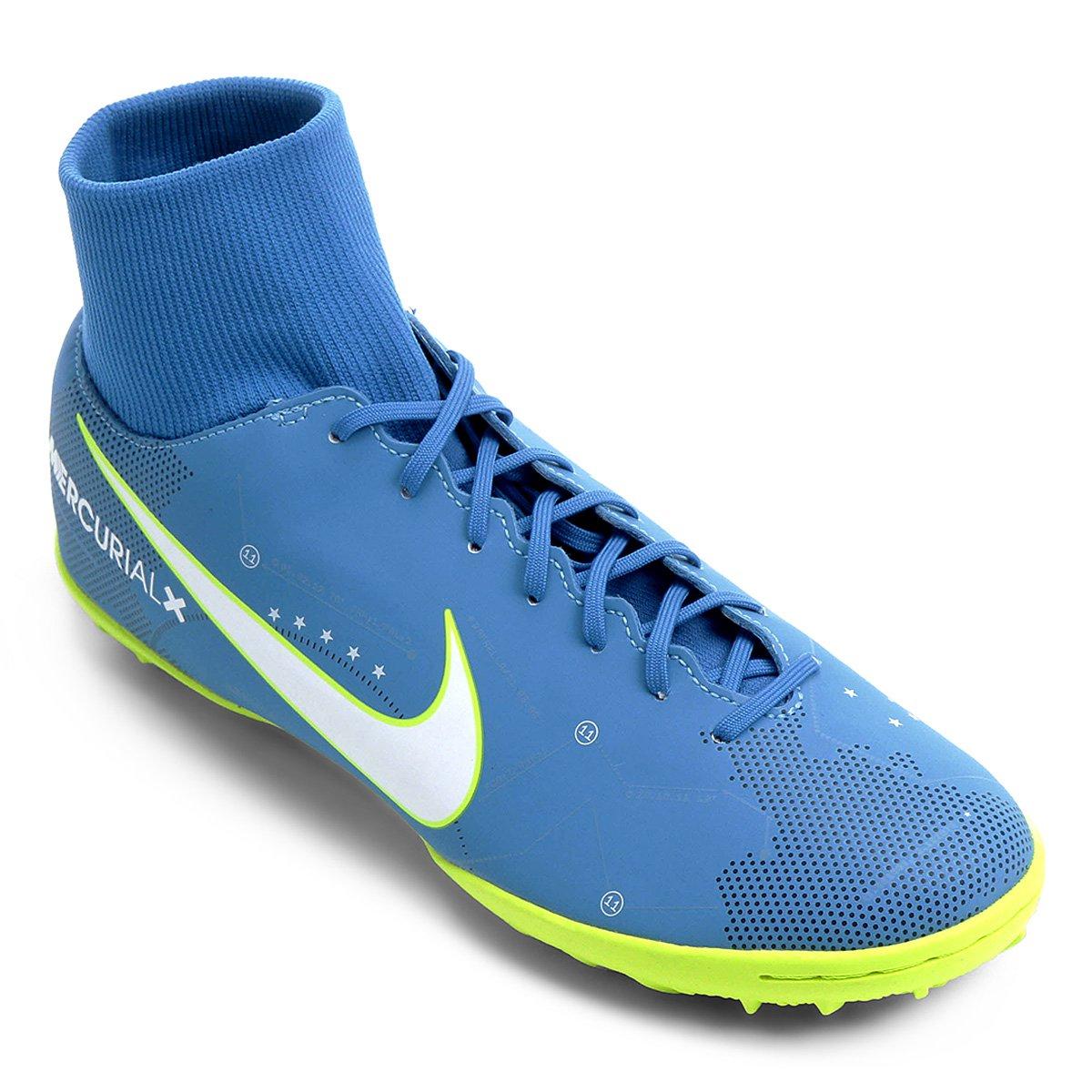 finest selection 028dc fecc4 Chuteira Society Nike Mercurial Victory 6 DF Neymar Jr TF - Azul e Branco