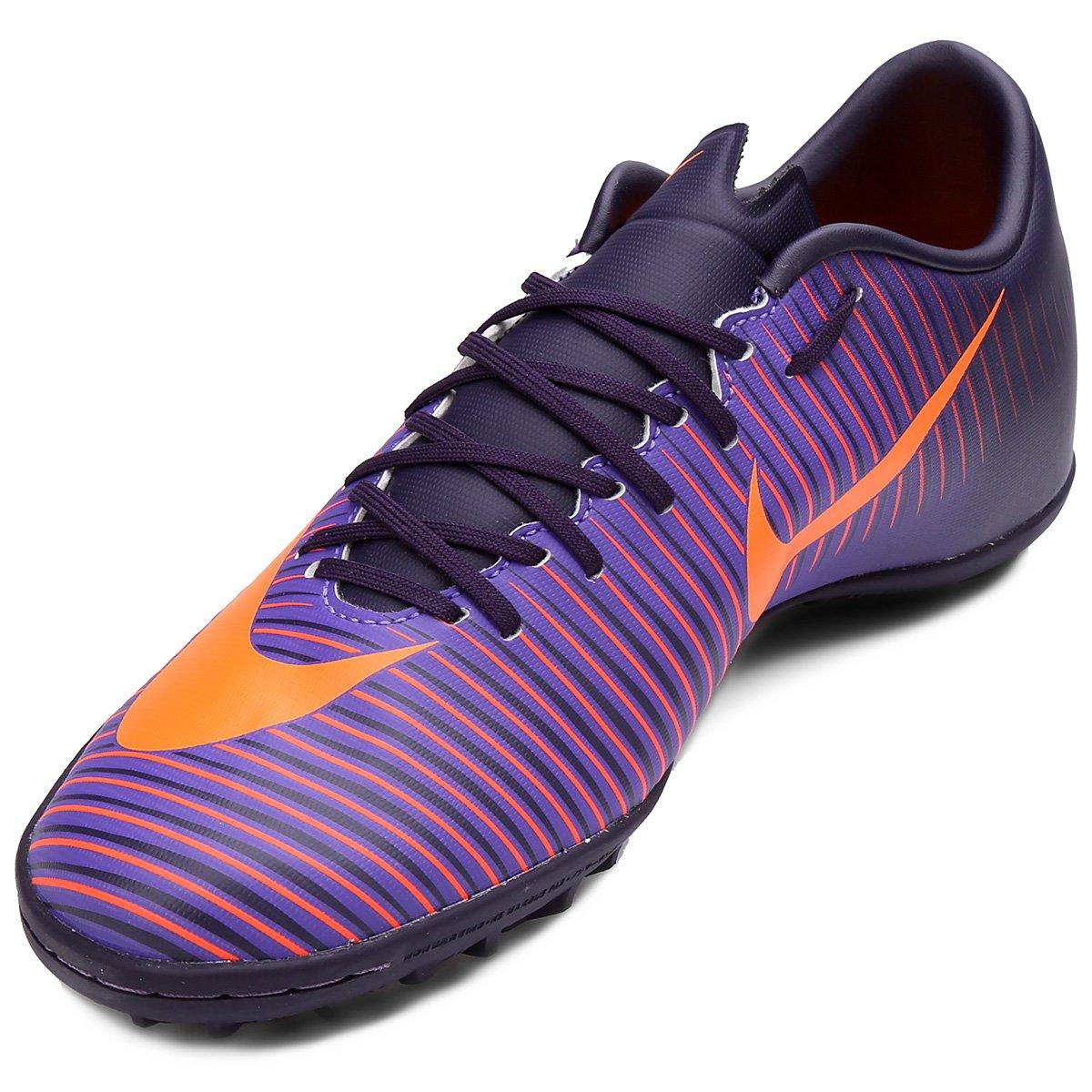Chuteira Society Nike Mercurial Victory 6 TF Masculina - Roxo ... 371ea277ebe16