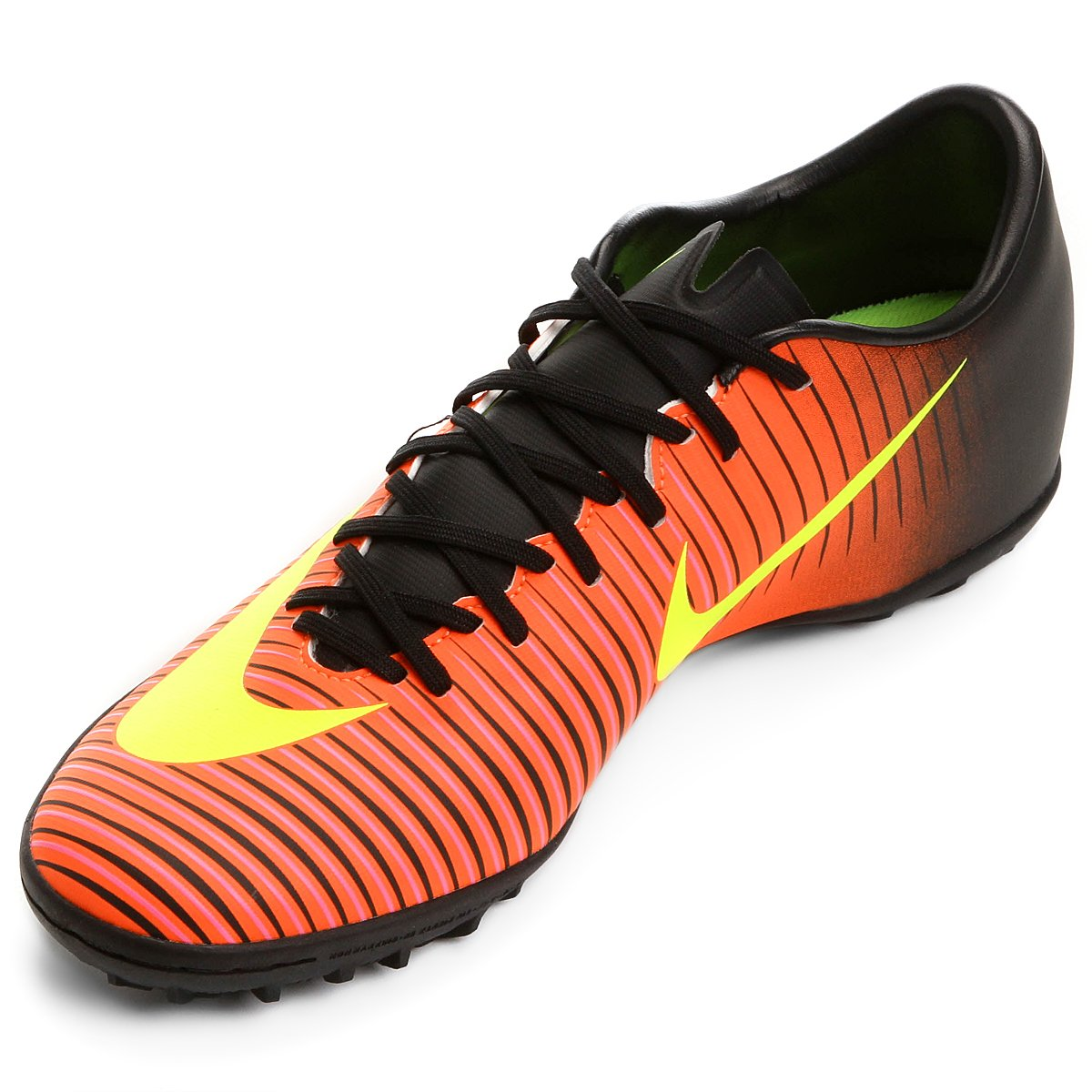 Chuteira Society Nike Mercurial Victory 6 TF - Laranja e Preto ... 4661535ce6c4d