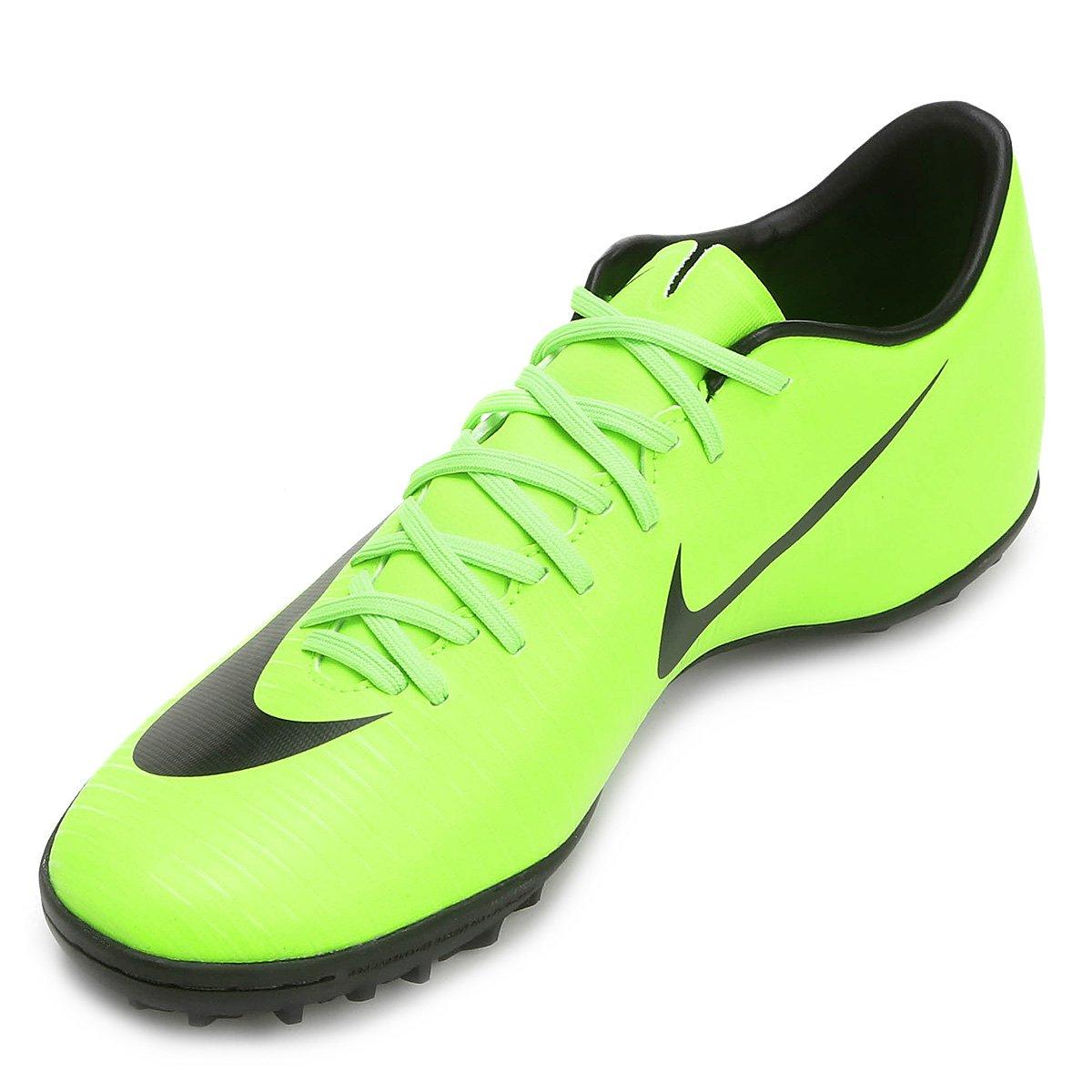 0a8da2027f Chuteira Society Nike Mercurial Victory 6 TF - Verde e Preto ...