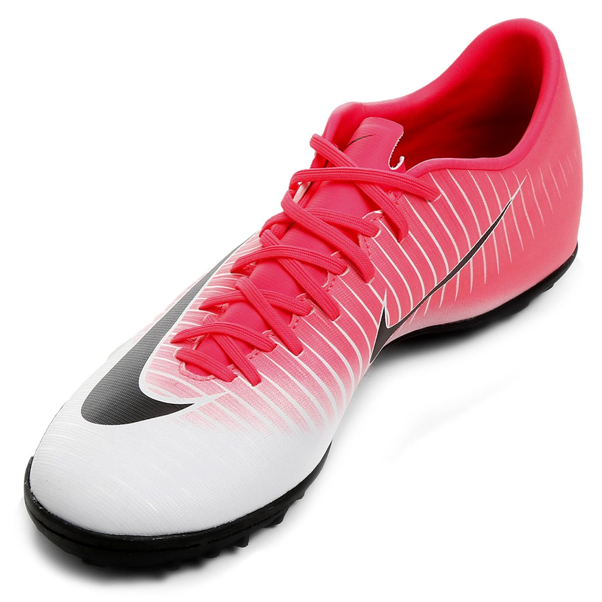 08559b3857 Chuteira Society Nike Mercurial Victory 6 TF - Pink e Preto - Compre ...